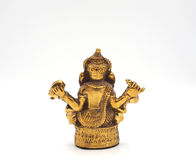 Seigneur brillant métallique de ganesha d'or de succès Photo stock