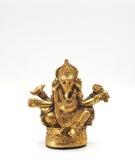 Seigneur brillant métallique de ganesha d'or de succès Images stock