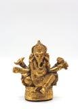 Seigneur brillant métallique de ganesha d'or de succès Photographie stock