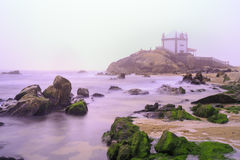 Seigneur d'église de la pierre à Porto, Portugal Photos stock