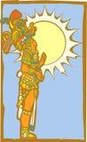Seigneur maya avec Sun Photos stock
