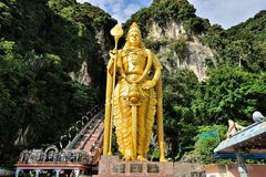 Seigneur Murugan Statue, cavernes de Batu Photo stock
