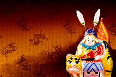 Seigneur traditionnel chinois Rabbit Images stock