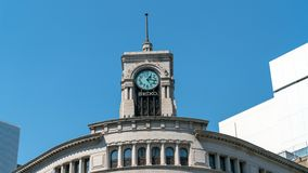Seiko Clock Tower dans le secteur de Ginza à Tokyo, Japon photographie stock