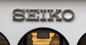 Seiko sur un magasin à Amsterdam images stock