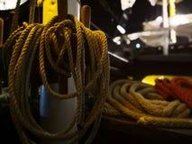 Seil auf dem Boot Stockbild