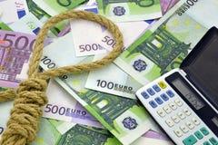 Seil auf Geldhintergrund Stockbild