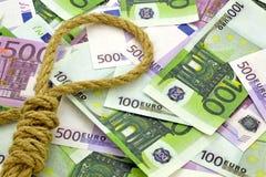 Seil auf Geldhintergrund Stockfotos