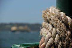 Seil auf Handkurbel stockfotografie