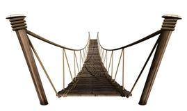 Seil-Brücke stock abbildung