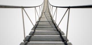 Seil-Brücke stockbild