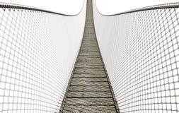 Seil-Brücke auf Weiß lizenzfreie abbildung