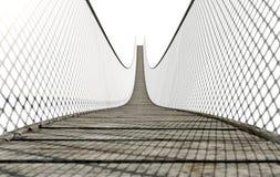Seil-Brücke auf Weiß stock abbildung