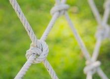 Seil gebunden in einem Knoten Stockbild