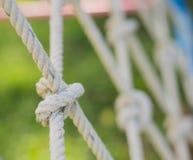Seil gebunden in einem Knoten Stockbilder