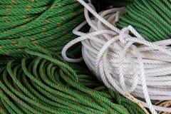 Seil gemacht vom Plastik des Nylons Lizenzfreie Stockfotos