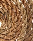 Seil getrennt auf Weiß stockfotografie