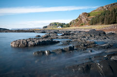 Seil Island. A view of the rugged coastline on Scotlands western highlands Stock Image