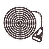 Seil mit einem Griff Werkzeug für das Klettern vektor abbildung