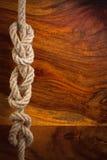 Seil mit einem Knoten Stockfotografie