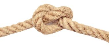 Seil mit Knoten Stockfoto