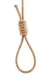 Seil mit Knoten für Selbstmord lizenzfreies stockfoto