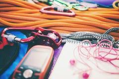 Seil, Navigator und Notizbuch Lizenzfreie Stockfotos