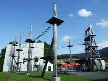 Seil-Park in Jakobsbad - Bezirk von Appenzell Ausserrhoden stockfotos