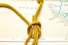 Seil und Karte stockbild