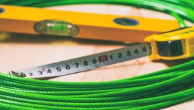 Seil und Werkzeuge Stockfotografie