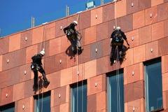 Seil-Zugangs-Arbeitskräfte Lizenzfreies Stockfoto