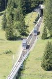 Seilbahn Mürren funicular, Switzerland Stock Image