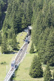 Seilbahn Mürren funicular, Switzerland Stock Photos