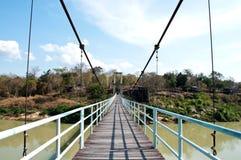 Seilbrücke Kangtana im Nationalpark Lizenzfreie Stockfotografie
