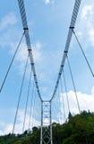 Seilbrücke mit blauem Himmel in Pelling Lizenzfreies Stockbild