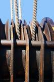 Seile des Stahls Stockfotos
