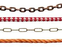 Seile und Ketten Lizenzfreies Stockfoto