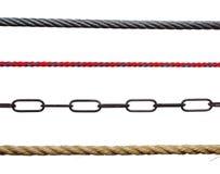 Seile und Ketten Stockfotografie