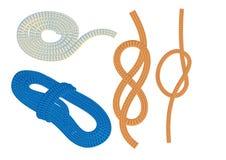 Seile und Knoten stock abbildung