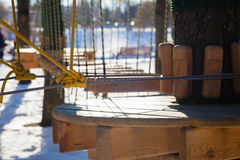 Seilpark in der Stadt Lizenzfreies Stockbild
