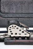 Seilrolle des Bootes im Detail Stockfoto