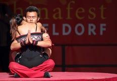 Seiltänzer des chinesischen Zustand-Zirkuses. Lizenzfreie Stockfotos