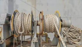 Seilwinde-Anker stockfoto
