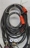 Kabel in der Reparaturwerkstatt Stockbilder