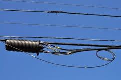 Seilzüge und Verbinder in der Luft stockfotografie