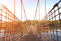 Seilzug Seilzug-blieb Brücke Lizenzfreies Stockbild