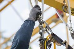 Seilzugangs-Arbeitskraftüberwachungseinrichtung Lizenzfreies Stockfoto