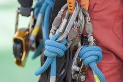 Seilzugangsausrüstung Lizenzfreies Stockbild