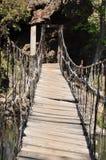 Seilzugbrücke Stockfoto