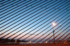 Seilzugbrücke Stockbild